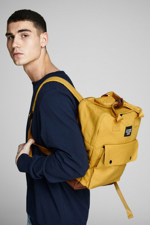 ACCESSORIES BY JACK & JONES Sacs à dos jaune 12149818_YOLK YELLOW img1