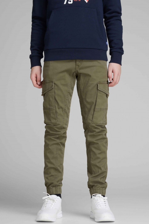 J & J Kids Pantalons colorés OLIVE 12151639_OLIVE NIGHT img1