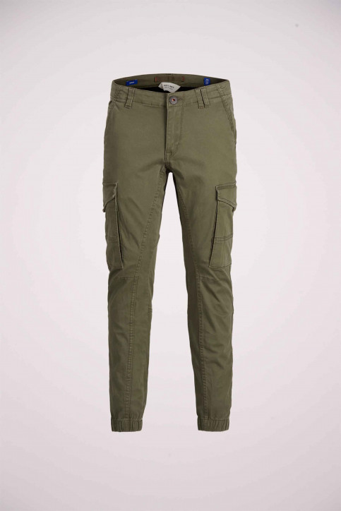 J & J Kids Pantalons colorés OLIVE 12151639_OLIVE NIGHT img7