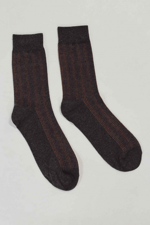 ACCESSORIES BY JACK & JONES Chaussettes gris 12152226_DARK GR MEL DOT img1
