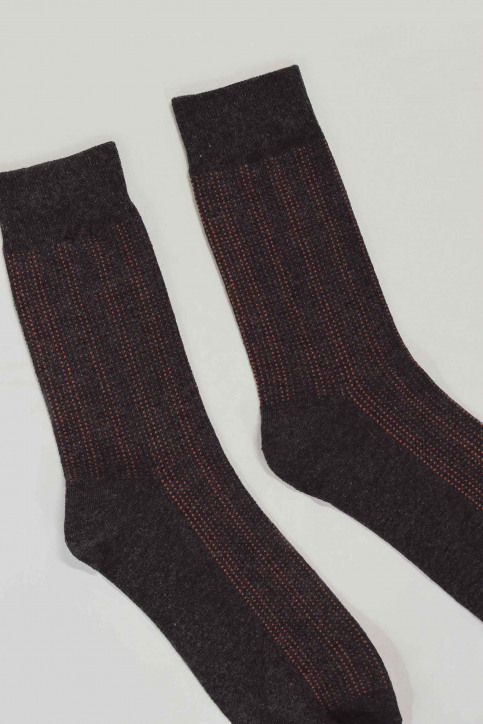 ACCESSORIES BY JACK & JONES Chaussettes gris 12152226_DARK GR MEL DOT img2