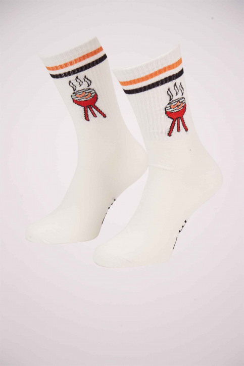 ACCESSORIES BY JACK & JONES Chaussettes rouge 12153526_FIERY RED img1