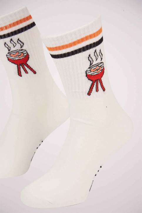 ACCESSORIES BY JACK & JONES Chaussettes rouge 12153526_FIERY RED img2