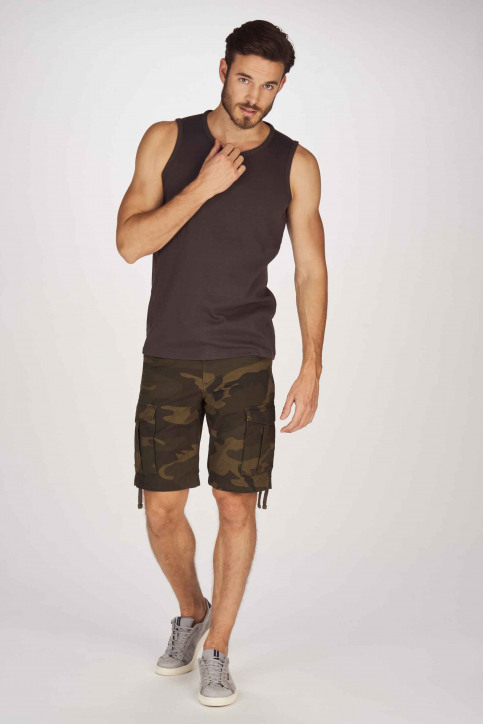 JACK & JONES JEANS INTELLIGENC Bermuda's groen 12154276_FOREST NIGHT img2
