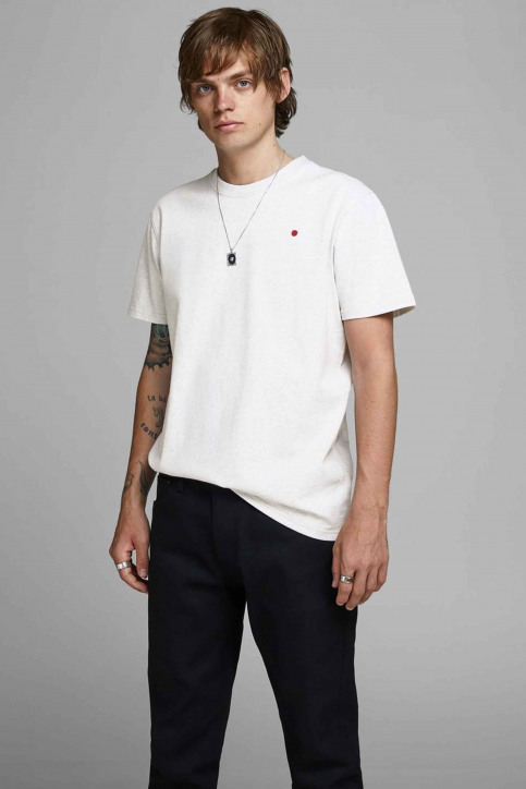 PREMIUM BLUE BY JACK & JONES T-shirts (korte mouwen) wit 12154311_WHITE MELANGE M img1