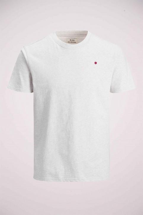 PREMIUM BLUE BY JACK & JONES T-shirts (korte mouwen) wit 12154311_WHITE MELANGE M img5