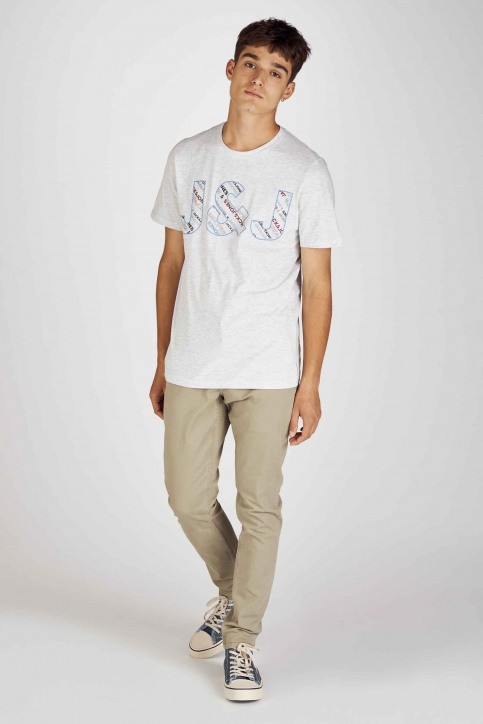 CORE BY JACK & JONES T-shirts (manches courtes) 12155105_WHITE MELANGE S img2