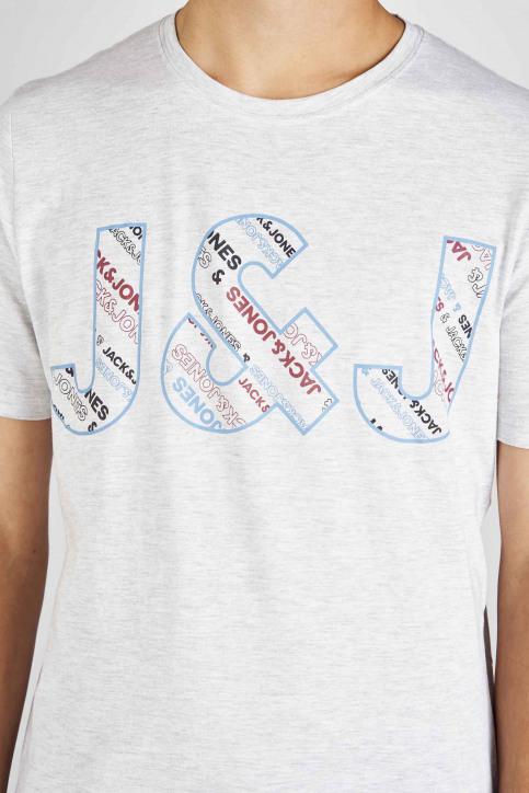 CORE BY JACK & JONES T-shirts (manches courtes) 12155105_WHITE MELANGE S img4