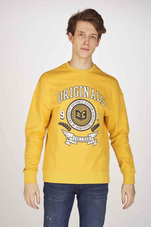 ORIGINALS BY JACK & JONES Sweaters met ronde hals geel 12155627_YOLK YELLOW SLI img1