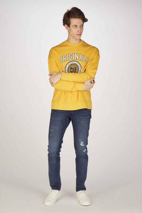 ORIGINALS BY JACK & JONES Sweaters met ronde hals geel 12155627_YOLK YELLOW SLI img2