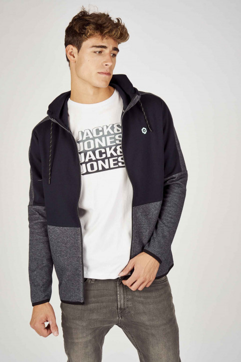 CORE BY JACK & JONES Sweats (gilet) bleu 12156229_SKY CAPTAIN MEL img1