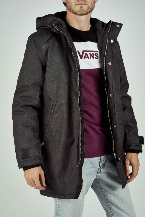 CORE BY JACK & JONES Vestes longues noir 12157684_BLACK MELANGE img1