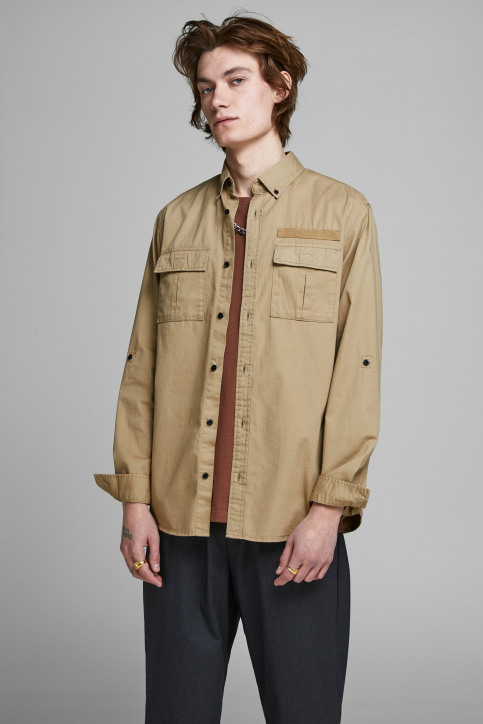 CORE BY JACK & JONES Hemden (lange mouwen) 12157768_CORNSTALK img1