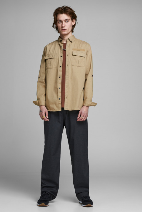 CORE BY JACK & JONES Hemden (lange mouwen) 12157768_CORNSTALK img2