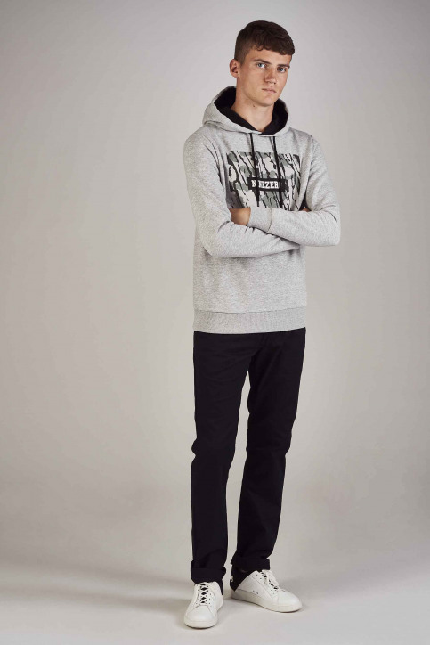 CORE BY JACK & JONES Sweaters met kap grijs 12157830_LIGHT GREY MELA img2