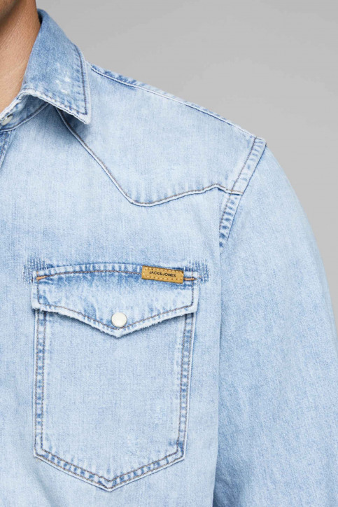 JACK & JONES JEANS INTELLIGENC Hemden (lange mouwen) denim 12158524_BLUE DENIM img6