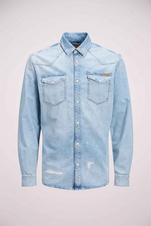 JACK & JONES JEANS INTELLIGENC Hemden (lange mouwen) denim 12158524_BLUE DENIM img7