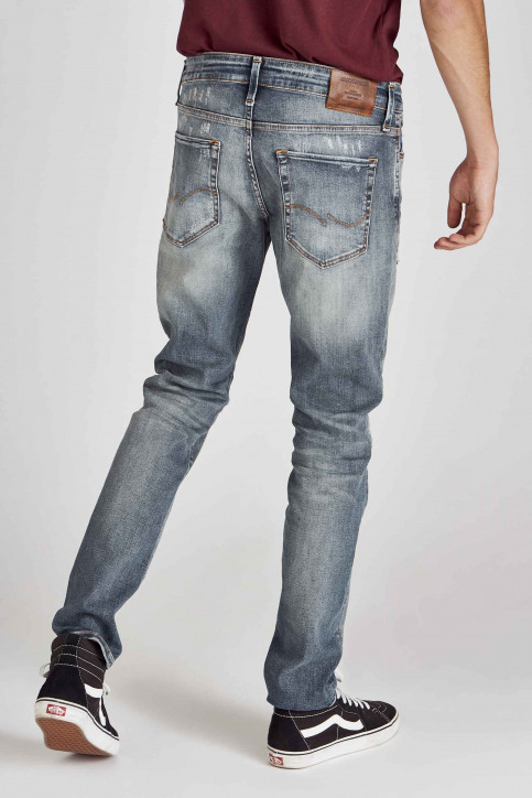 JACK & JONES JEANS INTELLIGENC Jeans slim denim 12158604_BLUE DENIM img3