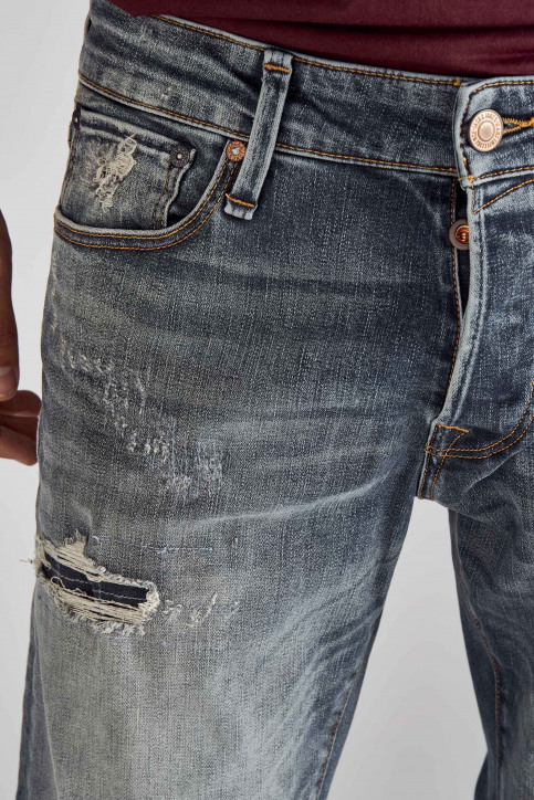 JACK & JONES JEANS INTELLIGENC Jeans slim denim 12158604_BLUE DENIM img4