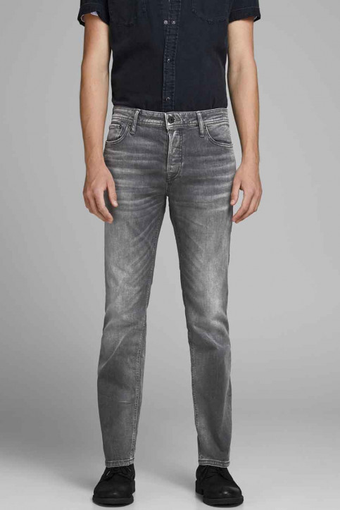 JACK & JONES JEANS INTELLIGENC Jeans slim 12158607_BLACK DENIM img2