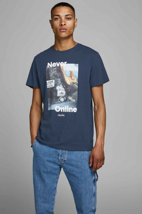 ORIGINALS BY JACK & JONES T-shirts (korte mouwen) blauw 12158757_NAVY BLAZER img1