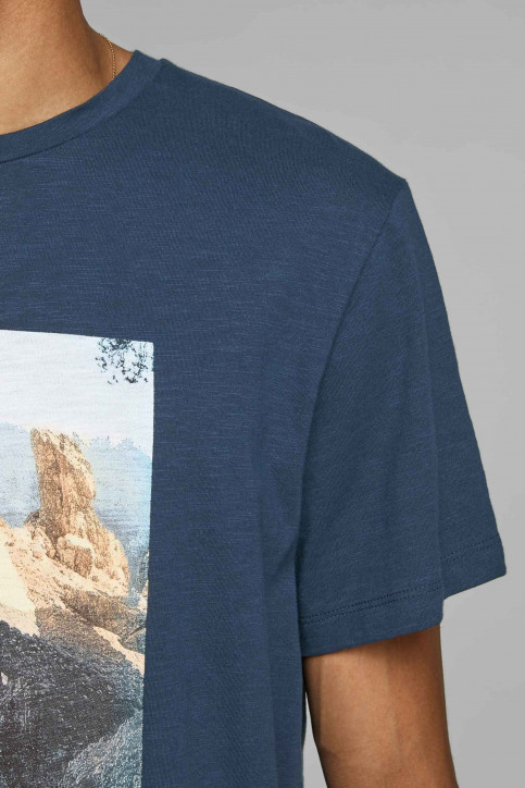 ORIGINALS BY JACK & JONES T-shirts (korte mouwen) blauw 12158757_NAVY BLAZER img5