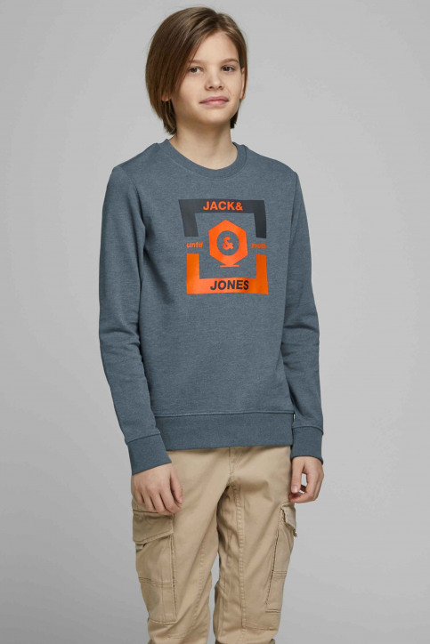 J & J Kids Sweaters met O-hals blauw 12167674_CHINA BLUE img1