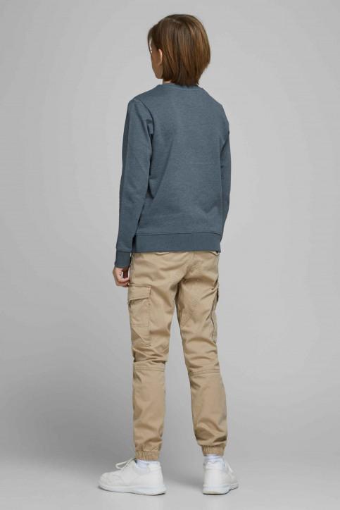 J & J Kids Sweaters met O-hals blauw 12167674_CHINA BLUE img2
