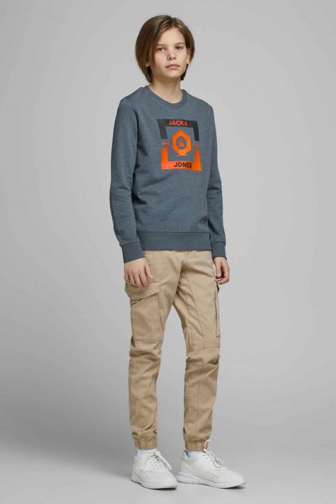 J & J Kids Sweaters met O-hals blauw 12167674_CHINA BLUE img5