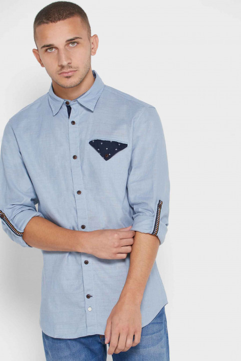 ORIGINALS BY JACK & JONES Hemden (lange mouwen) blauw 12168385_ASHLEY BLUE COM img1