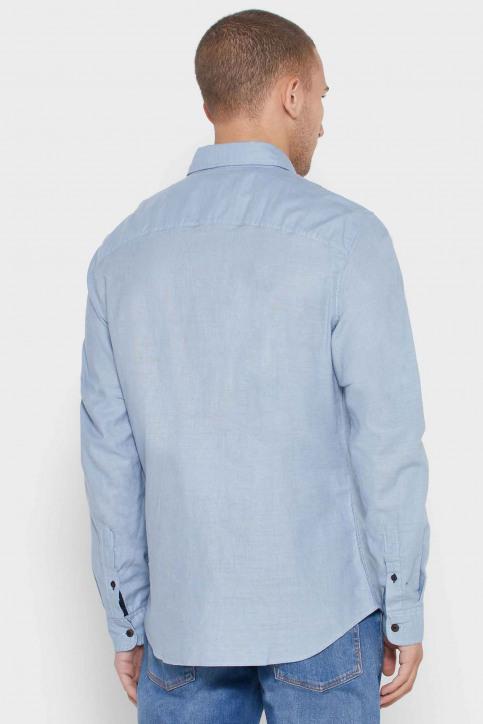 ORIGINALS BY JACK & JONES Chemises (manches longues) bleu 12168385_ASHLEY BLUE COM img2