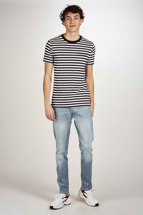 JACK & JONES JEANS INTELLIGENC Jeans slim denim 12168497_AM967 LIGHT BLU img2