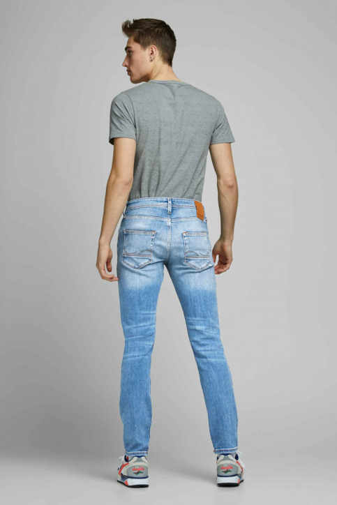 JACK & JONES JEANS INTELLIGENC Jeans slim denim 12168497_AM967 LIGHT BLU img3