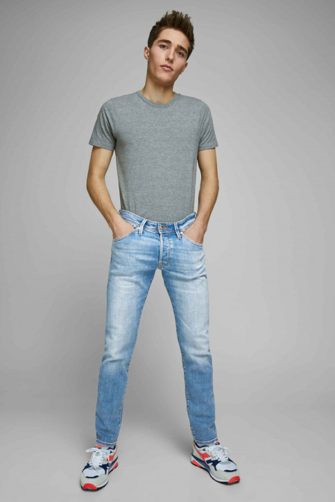 JACK & JONES JEANS INTELLIGENC Jeans slim denim 12168497_AM967 LIGHT BLU img7