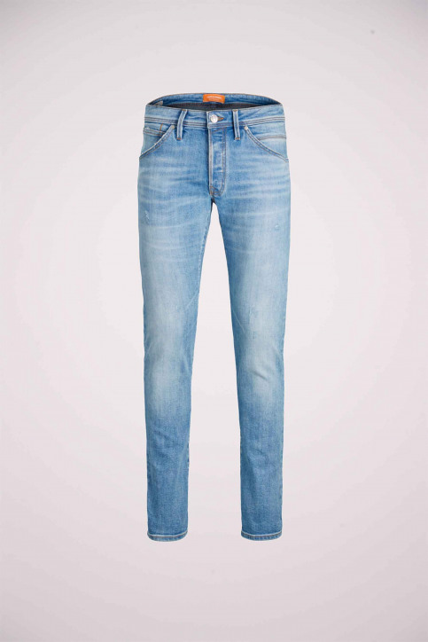 JACK & JONES JEANS INTELLIGENC Jeans slim denim 12168497_AM967 LIGHT BLU img8