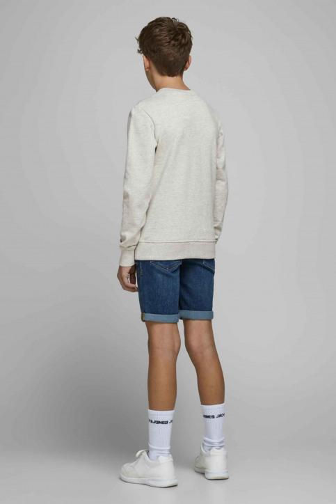 J & J Kids Sweaters met O-hals wit 12171736_WHITE MELANGE img2