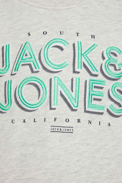 J & J Kids Sweaters met O-hals wit 12171736_WHITE MELANGE img3