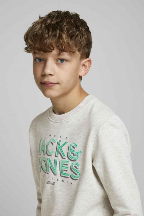 J & J Kids Sweaters met O-hals wit 12171736_WHITE MELANGE img6