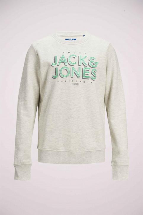 J & J Kids Sweaters met O-hals wit 12171736_WHITE MELANGE img7