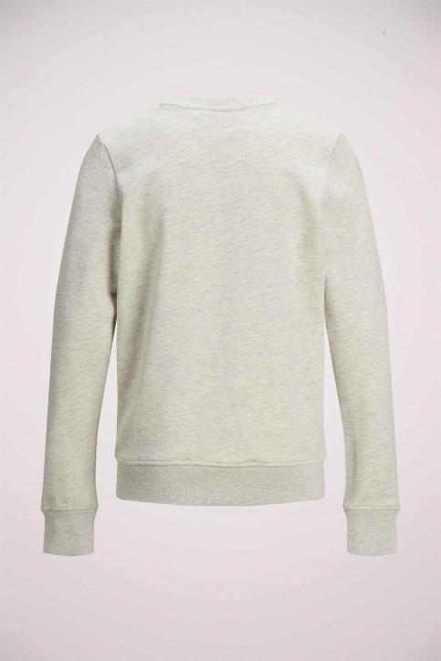J & J Kids Sweaters met O-hals wit 12171736_WHITE MELANGE img8