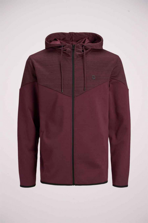 JACK & JONES Sweats avec capuchon rouge 12174744_PORT ROYALE img1