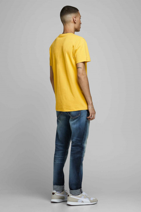 JACK & JONES T-shirts (manches courtes) jaune 12175079_SPICY MUSTARD img2