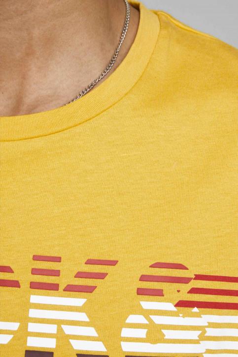 JACK & JONES T-shirts (manches courtes) jaune 12175079_SPICY MUSTARD img3