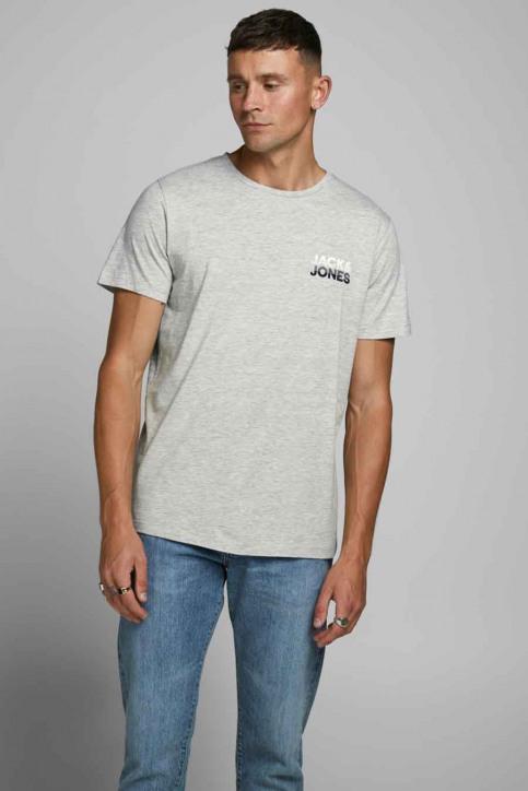 JACK & JONES T-shirts (manches courtes) gris 12175080_LIGHT GREY MELA img1