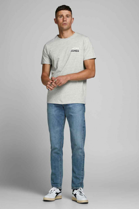 JACK & JONES T-shirts (manches courtes) gris 12175080_LIGHT GREY MELA img2