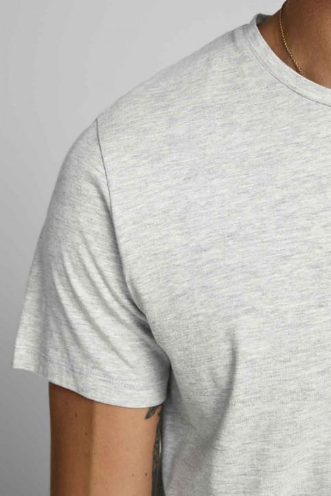JACK & JONES T-shirts (manches courtes) gris 12175080_LIGHT GREY MELA img4