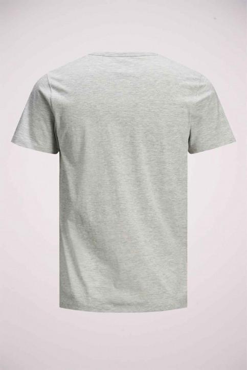 JACK & JONES T-shirts (manches courtes) gris 12175080_LIGHT GREY MELA img9