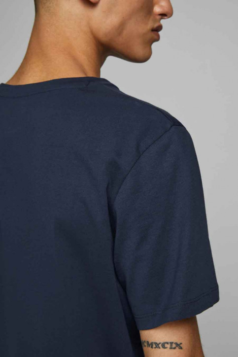 JACK & JONES T-shirts (manches courtes) bleu 12175080_NAVY BLAZER img4