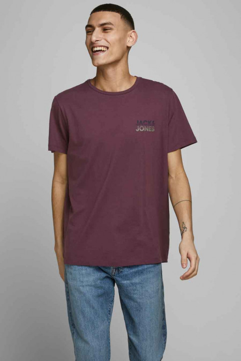 JACK & JONES T-shirts (manches courtes) rouge 12175080_PORT ROYAL img1