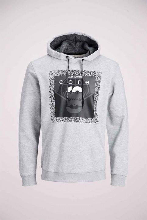 CORE BY JACK & JONES Sweaters met kap grijs 12175237_LIGHT GREY MELA img2